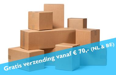 Gratis verzending vanaf € 70,- (NL & BE)